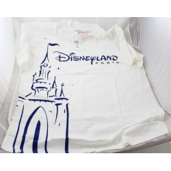 CHILDREN's T-shirt DISNEYLAND PARIS castle logo blue white 14/16 years