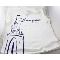 CHILDREN's T-shirt DISNEYLAND PARIS castle logo blue white 14/16 years