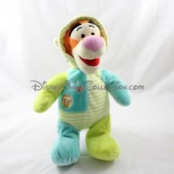 Tigger DISNEY pijama azul verde capucha 30 cm