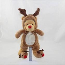 Winnie oso cachorro DISNEY STORE disfrazado de reno 25 cm