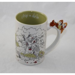 Mug Tic and Tac DISNEY PARKS squirrel handle 3D ceramic cup 13 cm