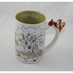 Mug Tic et Tac DISNEY PARKS écureuils anse 3D tasse en céramique 13 cm