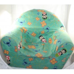 Lilo and Stitch club chair in orange polyester green