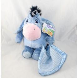 Donkey bourriquet DISNEY NICOTOY cover vichy blue satin 30 cm NEUF