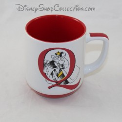 Mug Queen of Heart DISNEYLAND PARIS Alice in Wonderland letter Q Disney ceramic cup 11 cm