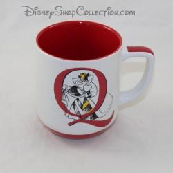 Mug Queen of Heart DISNEYLAND PARIS Alice in Wonderland letter Q Disney ceramic cup 11 cm
