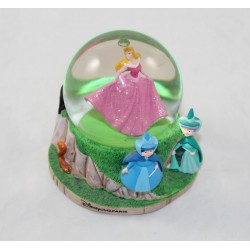 Snow globe Sleeping Beauty DISNEYLAND PARIS Aurora snowball fairies 9 cm