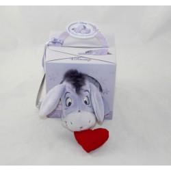 Burro a bourriquet DISNEY NICOTOY Eeyore's Little Moments Red Heart 20 cm