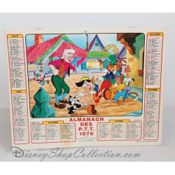 Calendrier Almanach 1976 WALT DISNEY Alice aux Pays des merveilles et Pinocchio