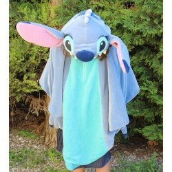 Poncho Stitch DISNEYLAND PARIS Lilo and Stitch hooded hood 7/8 years old