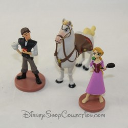 Figurines Raiponce DISNEY STORE lot de 3 figurines playset Tangled série