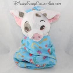Peluche Pua cochon DISNEYLAND PARIS Vaiana baluchon sac bleu Disney Babies 28 cm