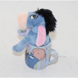 Coffee cup espresso Bourriquet DISNEY STORE blue ceramic stripes - plush 7 cm