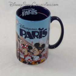 Mug en relief avec strass DISNEYLAND PARIS Mickey Minnie Tour Eiffel glitter 3D Disney 13 cm