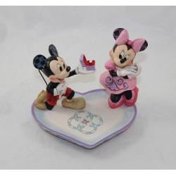 Figurine Mickey Minnie DISNEY Traditions Showcase coeur demande en mariage