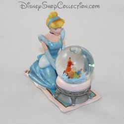 Snow globe princesse DISNEY Cendrillon assise boule à neige souris 10 cm