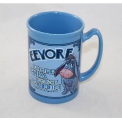 Mug en relief Bourriquet DISNEY STORE Eeyore pessimism bleu céramique