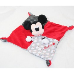 Doudou flat Mickey DISNEY NICOTOY square red gray black cloud
