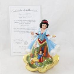 Figurine porcelaine Blanche-Neige DISNEY Bradford Editions Bell Love hiver édition limitée