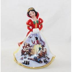 Figurine porcelaine Blanche-Neige DISNEY Bradford Editions Bell Noël édition limitée