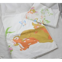 Bambi DISNEY baby bed adornment flat sheet - pillowcase 160 x 80