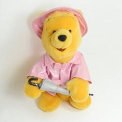 Musical cuddly Winnie the POOH DISNEYLAND PARIS automaton Singin' in the rain 32 cm (RARE)