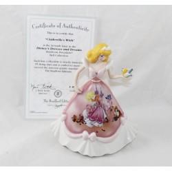 Figura de porcelana Cinderella DISNEY Bradford Ediciones Bell vestido rosa
