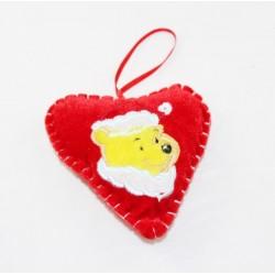 Christmas decoration DISNEY Winnie the Cub suspension heart velvet