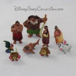 Lot de 9 figurines DISNEY Vaiana playset pvc 3 cm