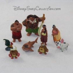 Lot of 9 figurines DISNEY Vaiana playset pvc 3 cm
