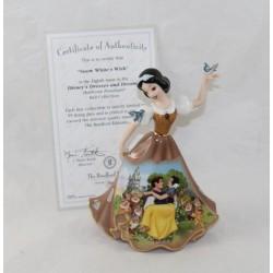 Figurine porcelaine Blanche-Neige DISNEY Bradford Editions Bell robe marron édition limitée