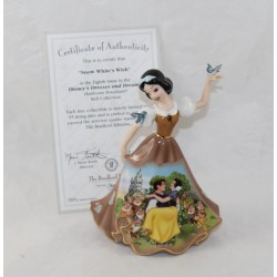 Porcelain Figure Snow White DISNEY Bradford Editions Bell limited edition brown dress