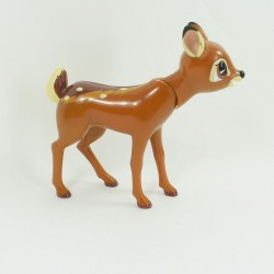 Figurine faon Bambi DISNEY vintage année 80 tête articulée 15 cm