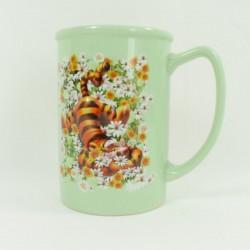 Mug embossed Tigger DISNEY STORE marguerittes green cup 3D ceramic
