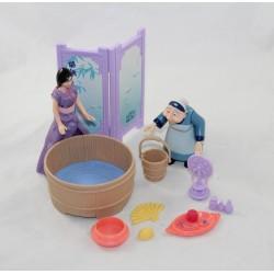Figura de Mulan DISNEY con gran juego de madre y preparación para el emparejador