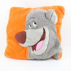 Cojín cuadrado oso Baloo DISNEY El libro de la selva naranja 34 cm
