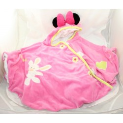 Poncho baby Minnie DISNEYLAND PARIS pink rabbit mateau cape hood