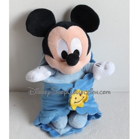Plush Mickey DISNEYLAND PARIS Blue Sun cover baby 38 cm