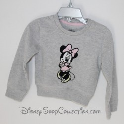 Sweat sleeved long sleeves girl DISNEY BABY Minnie sequined grey 9/12 months