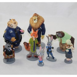 Lot of 8 figurines Zootopia DISNEY STORE pvc 11 cm