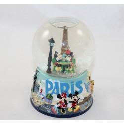 Snowglobe Mickey Minnie DISNEYLAND PARIS Torre Eiffel Paris 13 cm