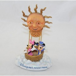 Figurine porte photo Mickey Minnie DISNEYLAND PARIS résine montgolfière soleil 19 cm