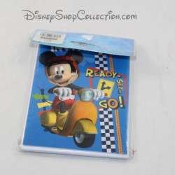 6 DISNEY Mickey scooter card single birthday invitation cards