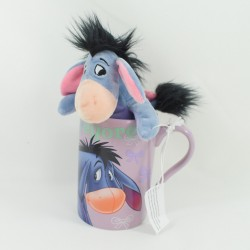 Plush Mug Bourriquet DISNEY STORE Winnie the Purple Pooh Cup