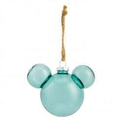 Christmas ball head of Mickey DISNEYLAND PARIS green translucent water
