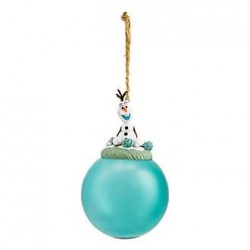 Christmas ball Olaf DISNEYLAND PARIS The green snow queen translucent water