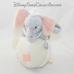 Peluche balle d'éveil éléphant DISNEY STORE Dumbo Culbuto gris beige 17 cm