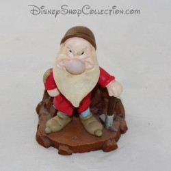 Grumpy resin figure dwarf DISNEY White Snow head on spring 11 cm