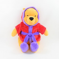 Large plush Winnie the CUB DISNEY NICOTOY purple red bathrobe 45 cm