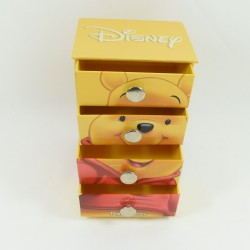 Convenient Winnie the CUB DISNEY yellow drawer jewelry box